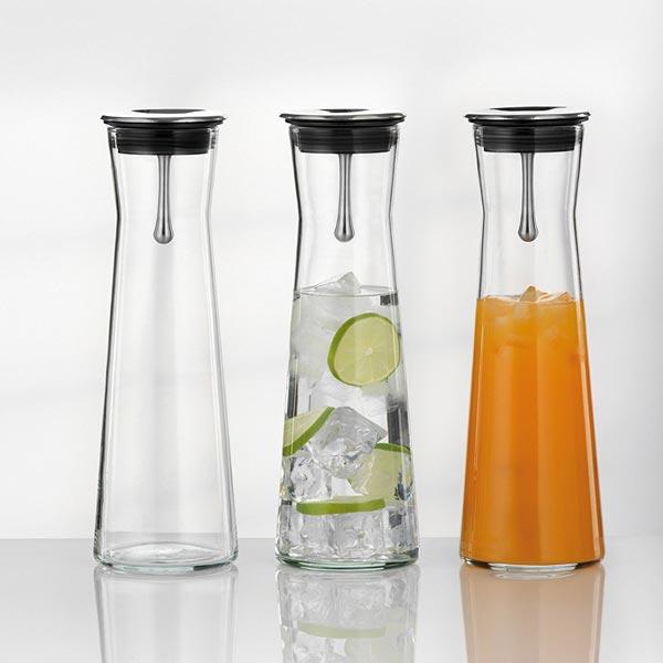 Vielfältige einsetzbar für frische Schorlen und Getränke: Glaskaraffe Indis von Bohemia Cristal (Foto: Amazon)
